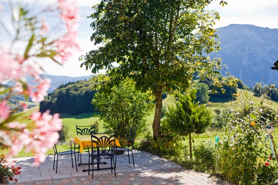 Landhaus Hoggen, Petra Lang, Terrasse